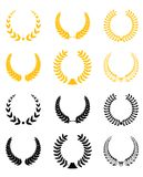 Set of laurel wreaths vector illustration