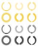 Set of laurel wreaths Royalty Free Stock Image