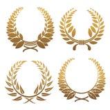 Set of laurel wreaths royalty free illustration