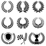 Set of Laurel Wreaths Stock Photos