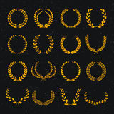 Set of laurel wreaths Royalty Free Stock Photo