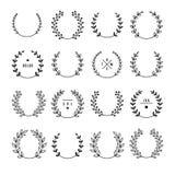 Set of laurel wreaths stock illustration