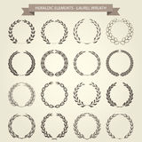 Set of Laurel Wreaths. In heraldic style royalty free illustration