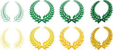 Set of laurel wreaths Royalty Free Stock Photography
