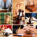 Set of Law 6. Set of wooden gavel and law 6 Stock Photography