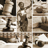 Set of Law. Set of wooden gavel and law 2 Sepia Stock Photography
