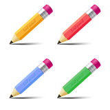 Set of lead pencils Royalty Free Stock Photo