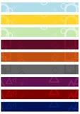 Set leaderboard tła z abstrakcjonistycznymi motywami. Zdjęcia Stock