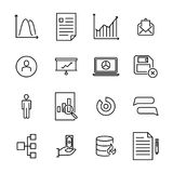 Set of leadership thin line icons. Stock Photography