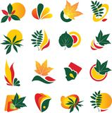 Set of leaf logo elements Stock Image