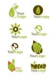 Set leaf logo Stock Photos