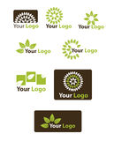 Set leaf logo Royalty Free Stock Images