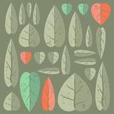 Set of leafs. Beautiful set of leafs for your design. Grouped by objects Royalty Free Stock Photography