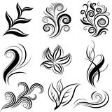 Set of leafs and plants design elements Stock Images