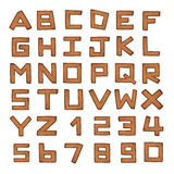 Set of Leather alphabet. Isolate on white Royalty Free Stock Images