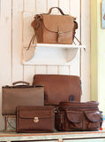 Set of leather handbags Royalty Free Stock Image