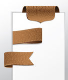 Set of leather labels Royalty Free Stock Photos