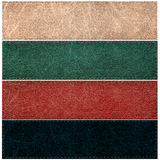 Set of leather labels of different colors Stock Photography