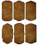 Set of leather labels vintage frame border desig Stock Photo