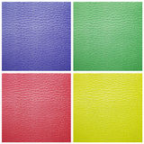 Set of leather samples texture Royalty Free Stock Photo