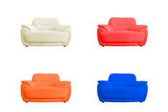Set of leather sofa. Royalty Free Stock Photo