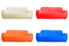 Set of leather sofa. Royalty Free Stock Image