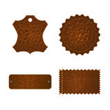 Set of leather tag labels. Stock Image