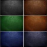 Set of leather texture closeup Royalty Free Stock Photos