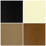 Set of leather textures Royalty Free Stock Photos