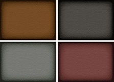 A set of leather textures Royalty Free Stock Image
