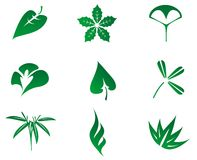 Set of leaves icon Stock Photos