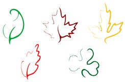 Set of leaves icon Stock Images