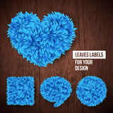 Set of leaves labels for Your design. Royalty Free Stock Photo