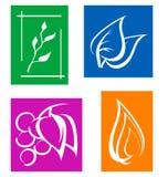 Set of leaves symbols Stock Photography