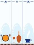 Set Lebesmittelanschaffungfahnen Lizenzfreies Stockbild