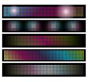 Set of LED lights background banners Stock Photos