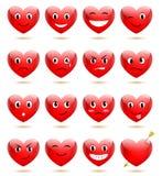set leenden för hjärta royaltyfri illustrationer