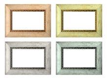 Set leere Bilderrahmen der Farbe getrennt Lizenzfreies Stockfoto