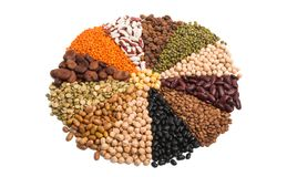 set of legumes isolated stock photography