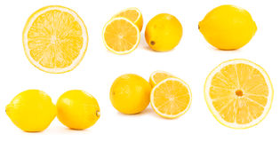 Set of lemons Stock Photography