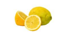 Set of lemons isolated on white background Stock Images