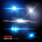 Set of lens flares and sun flares royalty free illustration