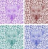 Set leopard print pattern. Set tiger print pattern Stock Image