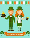 Set of leprechaun characters poses Stock Photography