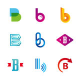 Set of letter B logo icons design template elements Stock Photo