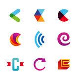 Set of letter C logo icons design template elements Stock Images