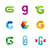 Set of letter G logo icons design template elements Stock Photography