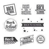 Set of lettering `Back to School`, typography design elements royalty free illustration