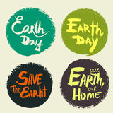 Set lettering Earth Day Stock Photography