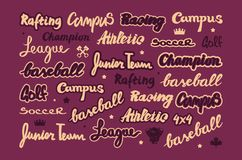 Set of lettering for sticker and t-shirt stock photography